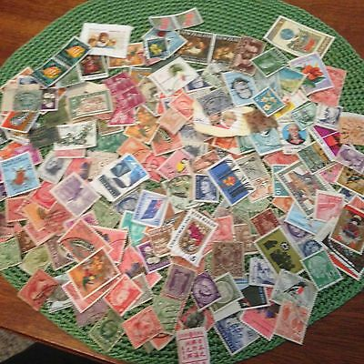 200+ Australian/Overseas Mixed Lot Stamps Off Paper + On paper