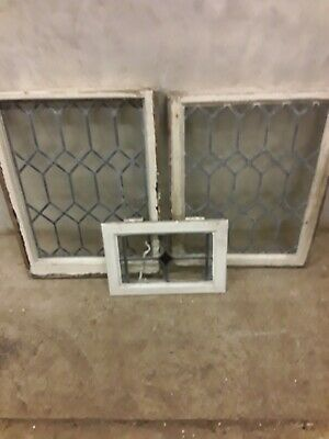 3 Antique Stained Glass Windows