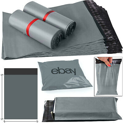 "16"" x 21""Inch Grey Mailing Packing Bag Strong Poly Postal Postage Post Mail Bags"