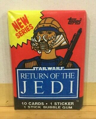 STAR WARS RETURN OF THE JEDI New Series Trading cards TOPPS 1983 sellado sealed