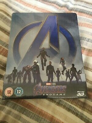 Avengers Endgame Zavvi Exclusive Steelbook Blu Ray + 3D Brand New Sealed