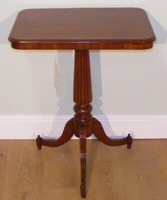 Good Quality Antique Regency Mahogany Wine Occasional Side Lamp Table