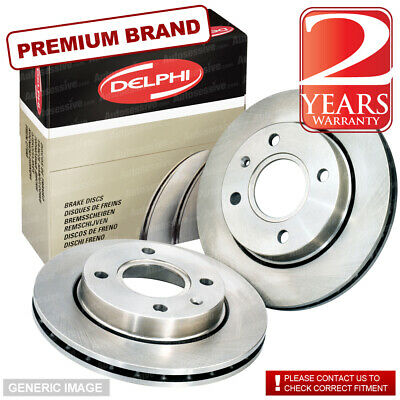 Front Brake Discs+Pads For Mitsubishi L200 K74 2.5TD 1//96/> ONE PISTON NO ABS