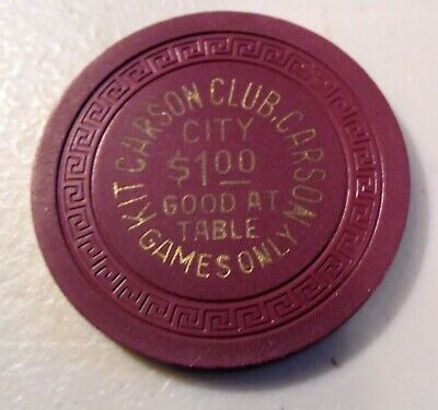 Vintage Casino Chip $1. Kit Carson Club Carson City Good Only  At Table Games