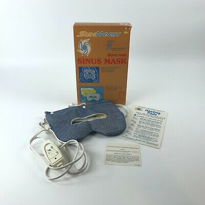 Vintage SunMark Electric Moist Heat Sinus Facial Mask Heated Pad Style 1480