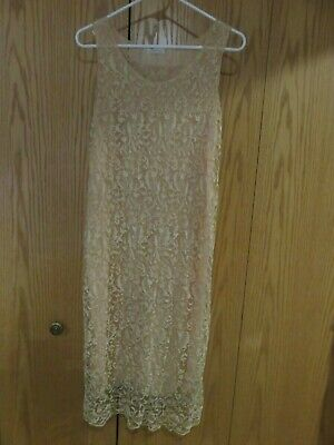 Womens vintage victorian style beige lace crochet dress Truly Vintage, Beautiful