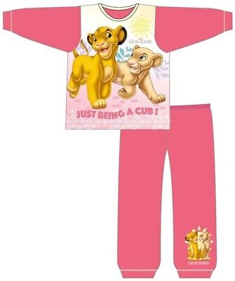 Girls Kids Lion King Pyjamas Size Age 18 Months to 5 Years Official Disney PJ