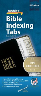 Tabbies Mini Gold-Edged Bible Indexing Tabs, Old & New Testament, 80 Tabs 64 &