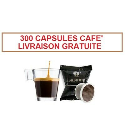 300 Dosettes Capsules Cafe' Lollo Noir Nero Compatibles Lavazza Espresso Point