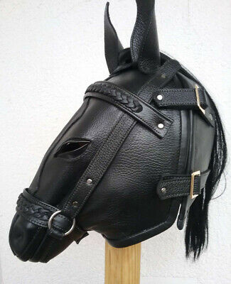 100 % Ledermaske, Leather Mask, Pony, Horse, Pferdemaske, Gaulmaske