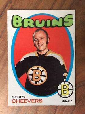 1971-72 OPC Gerry Cheevers #54 Boston Bruins Toronto Maple Leafs Canada HofF !!!
