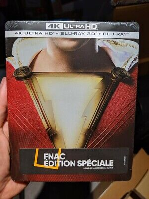 Shazam! - FNAC Exclusive Steelbook (Blu-ray 2D/3D + 4K UHD) BRAND NEW!! DC