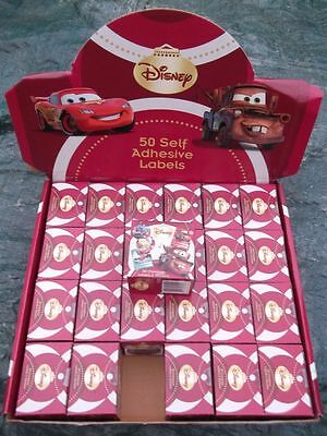 48 packs 50 Christmas Disney Cars stickers labels gift tag wholesale joblot xmas