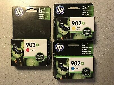 GENUINE HP 902 XL 3 Pack HIGH YIELD COLOR INK  Exp 2020 NIB! FREE 1ST CLASS SHIP