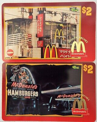 "MCDONALD'S ""Golden Arches"" Phone Card Sprint/Classic 1996 Lot of 2 (#9 & #33)"