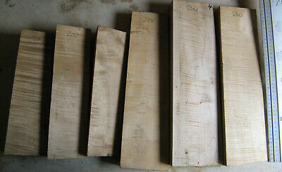 Lot 1:  old Bosnian maple 3 backs, ribs etc. for violin making from 1991 flamed