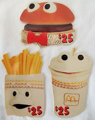 MCDONALD'S $25 Phone Cards 1996 Sprint Complete Die-Cut Set of 3 Happy Meal Guys