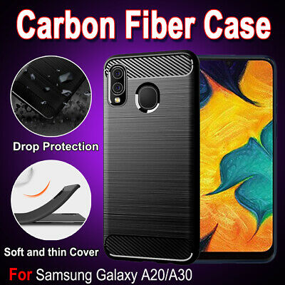 For Samsung Galaxy A20 A30 A50 A71 A10e A90 Carbon Fiber Heavy Duty Case Cover