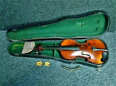 Vintage Celebre Vosgein Full-Size Violin Made In France With Case For Repair