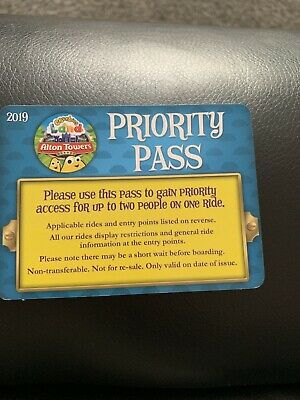 Alton Towers Cbeebies Priority Pass Fastrack Fast Track