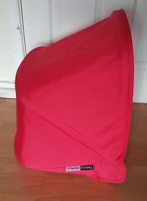 Bugaboo Donkey Limited Edition Coral Red hood / Sun canopy Rare colour !