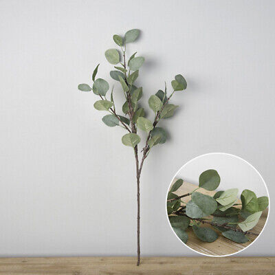 1 X Artificial Silk Fake Green Leaf Eucalyptus Plant Flowers Nordic Home Decor