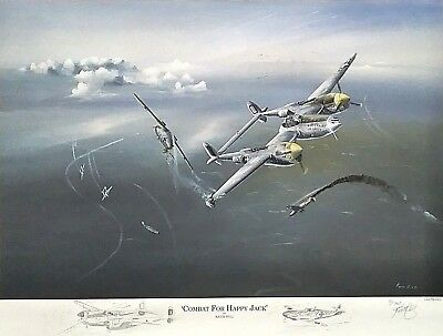 Combat for Happy Jack P-38 Jack Ilfrey 79th FS.- 20th FG. REMARQUE AP Keith Hill