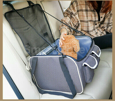Portable Pet Carrier Cat Dog Car Booster Seat Travel Bag Soft Crate Cage Bottle