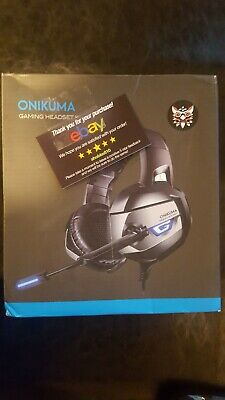 ONIKUMA K5 Stereo Gaming Headset for PS4 Xbox One PC with Mic, NEW Open Box