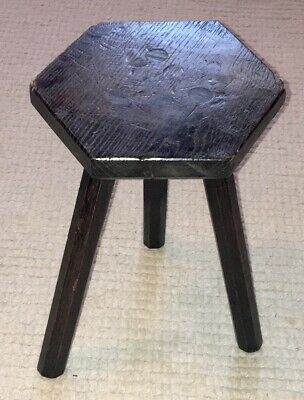 Primitive Antique 18th Century Milking Stool