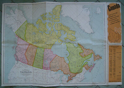map of canada immigration information 1956