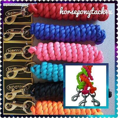 NEW IN BRIGHT COLOURED LEADROPE GOLD CLIP FOR HEADCOLLARS 2 m long