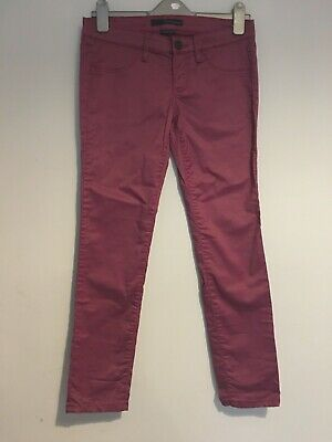 calvin klein plum jeans waxy coated low rise skinny w28 l32