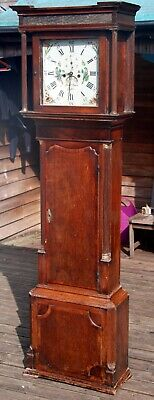 Antique Oak Mahogany Longcase Grandfather Clock CHESTER Benjamin Peers