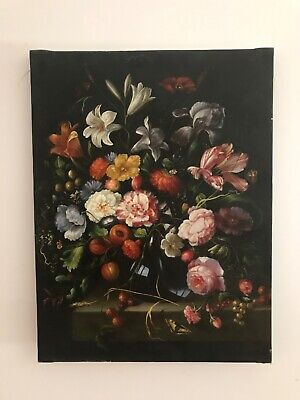 Vintage Floral Still Life oil painting on canvas