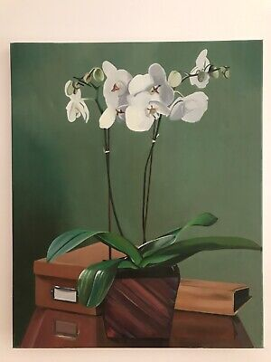 Floral Still Life Orchid Flower oil painting on canvas