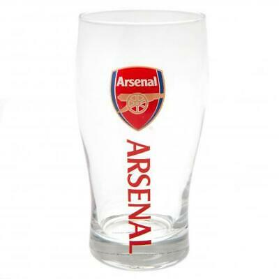 Arsenal FC Official Football Gift Beer Pint Glass Fathers Day