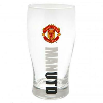 Manchester United Man Utd FC Official Football Gift Beer Pint Glass Fathers Day