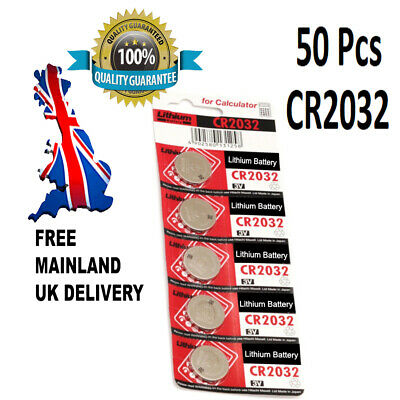 50 x CR2032 BR2032 DL2032 Branded 3V LITHIUM Coin Cell Button Batteries