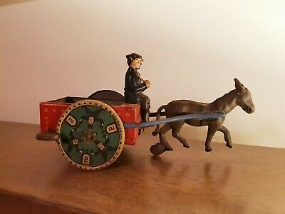 Antique Tin Litho Lehmann Na-Ob Wind-up Toy