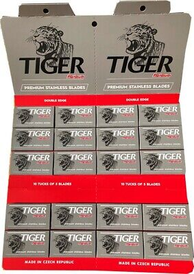 100 Tiger Platinum double edge razor blades