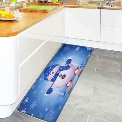 Christmas Decoration Non-Slip Mat Kitchen Bathroom Foyer Rectangular Rug carpet