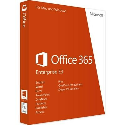 Microsoft Office 365 Enterprise E3 License Code -1Year - 5Users - 25 Devices