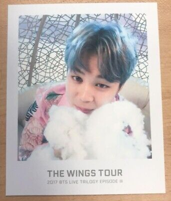 BTS Bangtan Boys JIMIN Photocard Wings Tour 2017 Live Trilogy Ticket Album ARMY