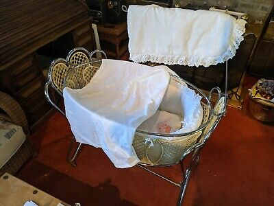 Vintage Metal Childs Cot