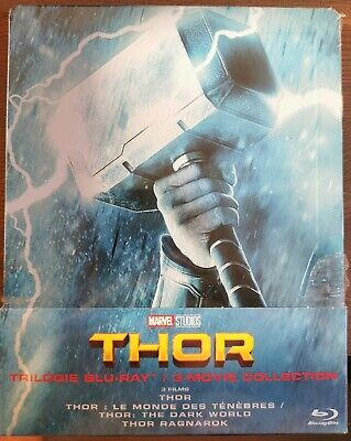 THOR - Trilogie Édition Steelbook Coffret Blu-ray Collector (Marvel Studios)