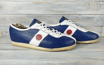 Vintage ONITSUKA TIGER 60'S Leather Sneakers HL200 Nippon 60 Blue White OLYMPICS