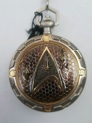 Official Star Trek Collectors Enterprise Fob Watch. Very Good Condition. Boxed.