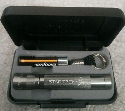 Star Trek Maglite Solitaire Torch. Gunmetal. Boxed. Working with AAA Battery.