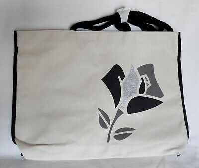 Wholesale Lot of Lancome Beauty Canvas Tote Bag Choice of Black or Red Rose